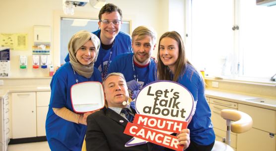 Dental students scrum for Mouth Cancer Action Month